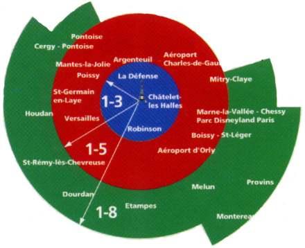 Paris Metro Zones 1 3 Map